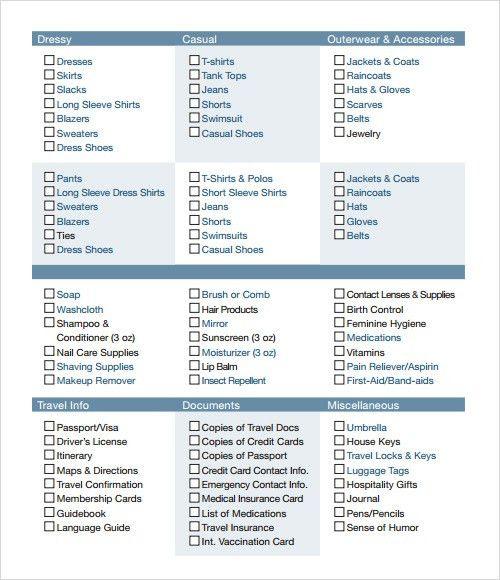 Sample checklist - 12+ Documents In PDF, Word