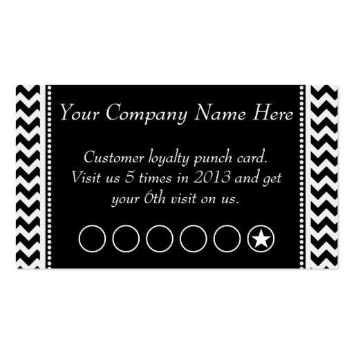 Loyalty business card punch card Business Card Templates ...