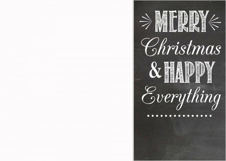 FREE Chalkboard Christmas Card Templates | Christmas card ...