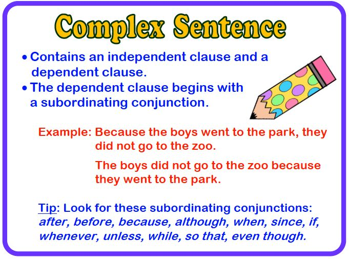 Complex Sentences - Lessons - Tes Teach