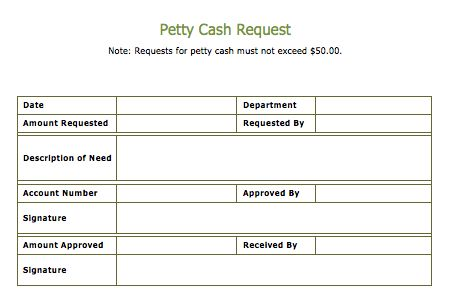 Cash Slip Template – Word Documents