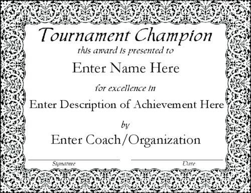 Sports Award Certificates   Certificate Templates