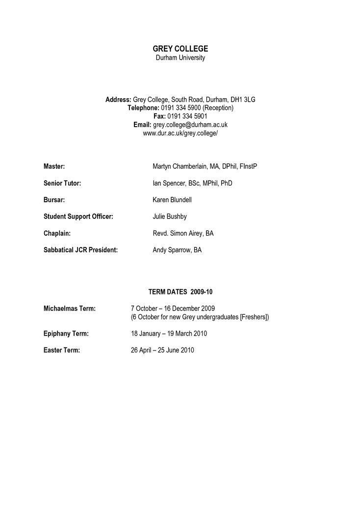 Example Of Simple Resume Format. Chronological Resume Sample ...