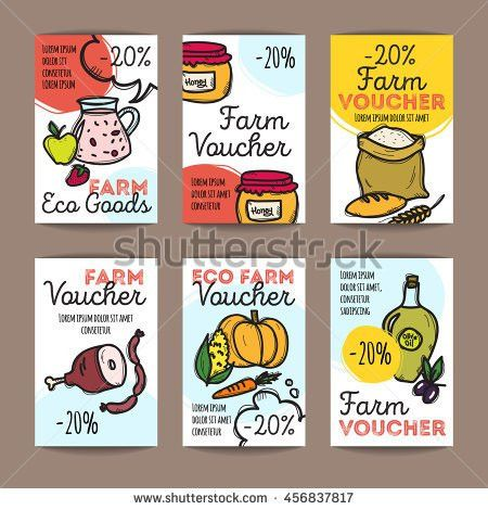 Vector Set Discount Coupons Fast Food Stock Vector 414797725 ...