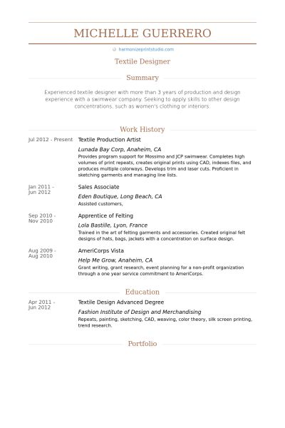 Production Artist Resume samples - VisualCV resume samples database