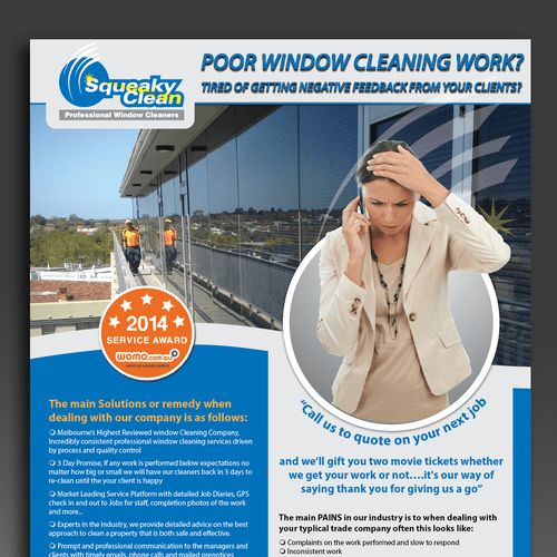 Window Cleaning Flyer for Prospective Clients | Postcard, flyer or ...