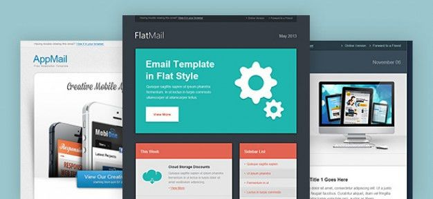 Email Newsletter Template Vectors, Photos and PSD files | Free ...