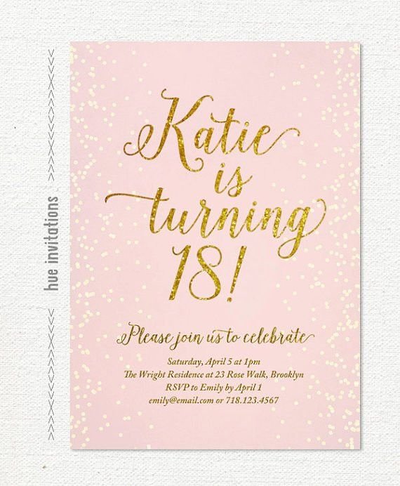 Brilliant 18th Birthday Party Invitation Template Concerning ...