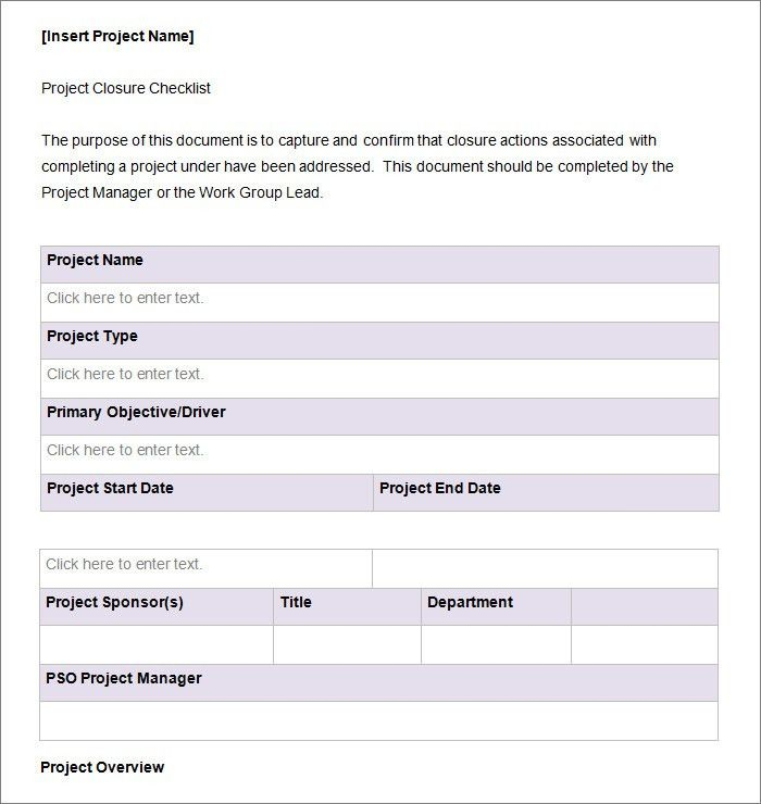 Project Checklist Template - 8+ Free Word, PDF Documents Download ...