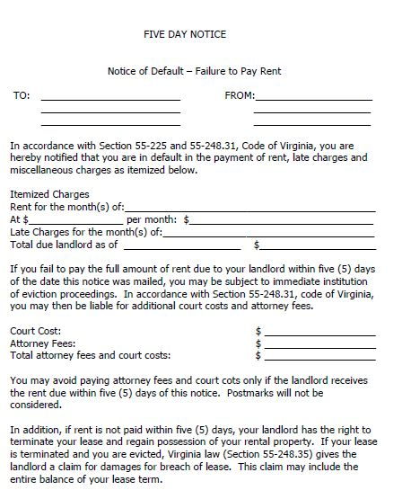 Printable Sample 30 Day Eviction Notice Form | Real Estate Forms ...