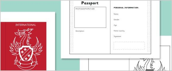 Role-Play Passport Template | Free Early Years & Primary Teaching ...