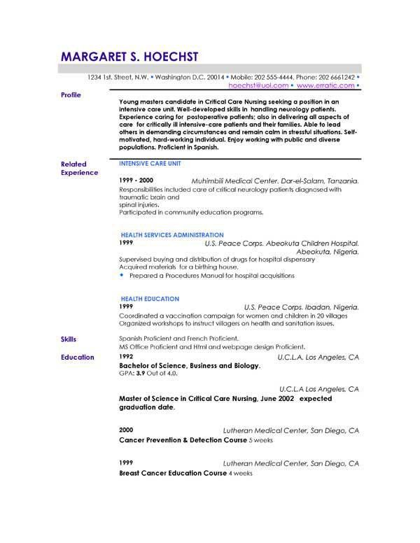 profile resume example how to write a professional profile resume