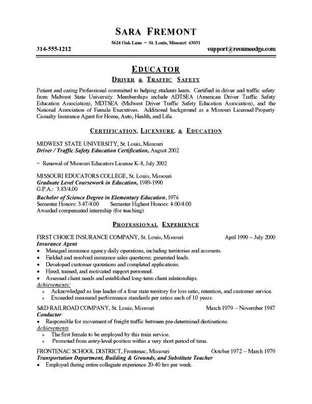 resume sample my name med. experienced teacher resume samples ...