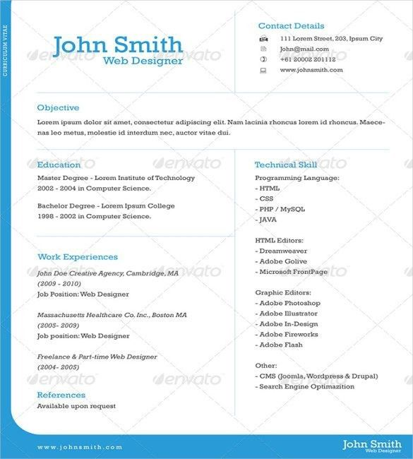 Download One Page Resume Examples | haadyaooverbayresort.com