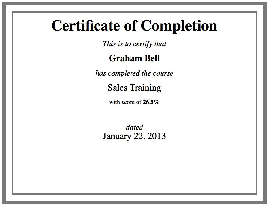 Custom Certificate Template using HTML