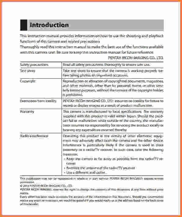 instruction manual template - Sales Report Template