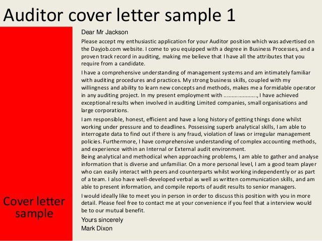 Internal Audit Cover Letter Internal Auditor Cover Letter Bank - Cv cover letter auditor