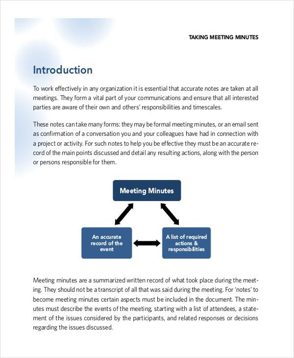 Corporate Minutes Template – 10+ Free Word, PDF Documents Download ...