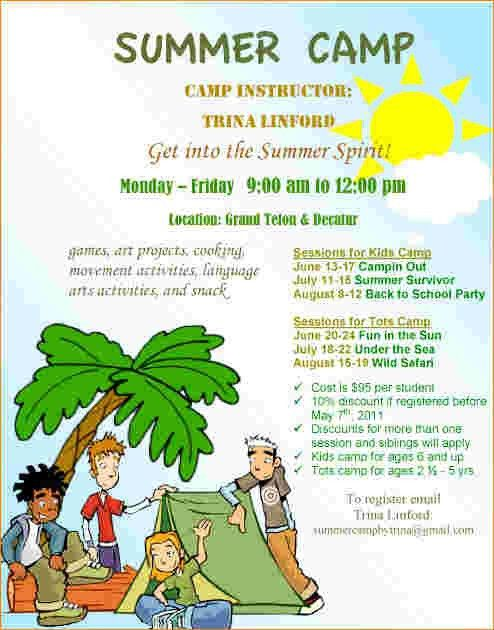 Summer Camp Flyer. Art Summer Camp Flyer Website 8 Best Prc Summer ...