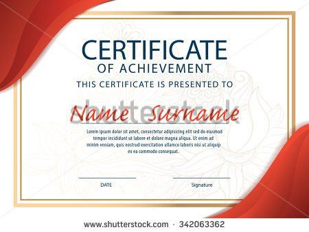 Red Modern Certificate Template diploma Cover Vector Stock Vector ...
