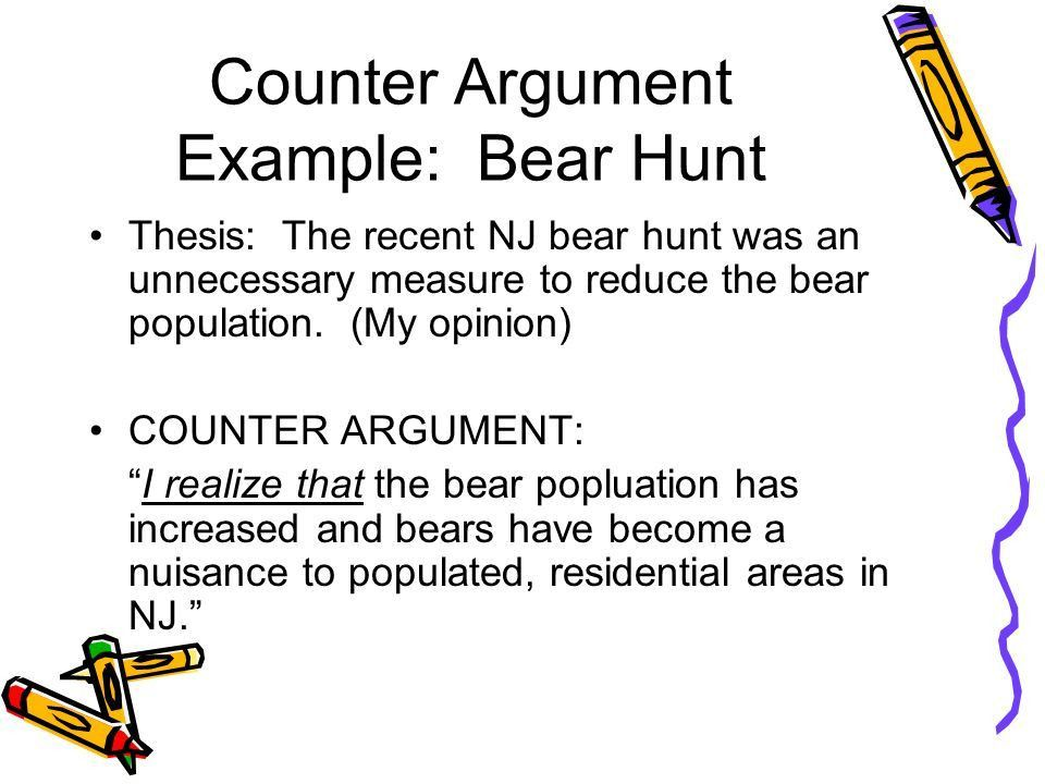 COUNTER ARGUMENT THE OPPOSITION!. - ppt video online download