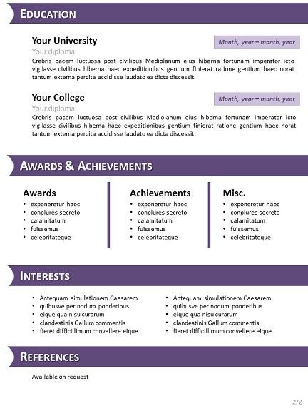 Resume Templates Open Office Free   Template Design