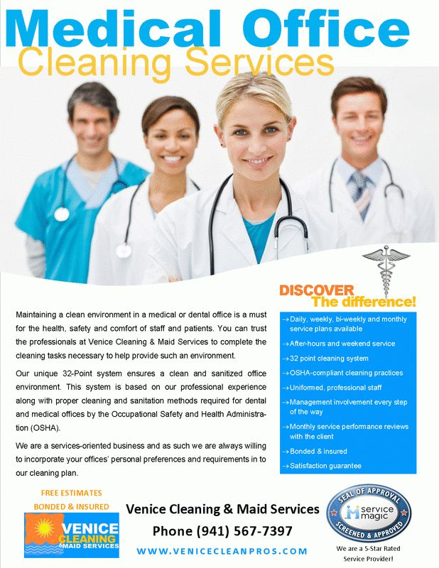 Medical Office Cleaning Services - House Cleaning-Maid Service ...