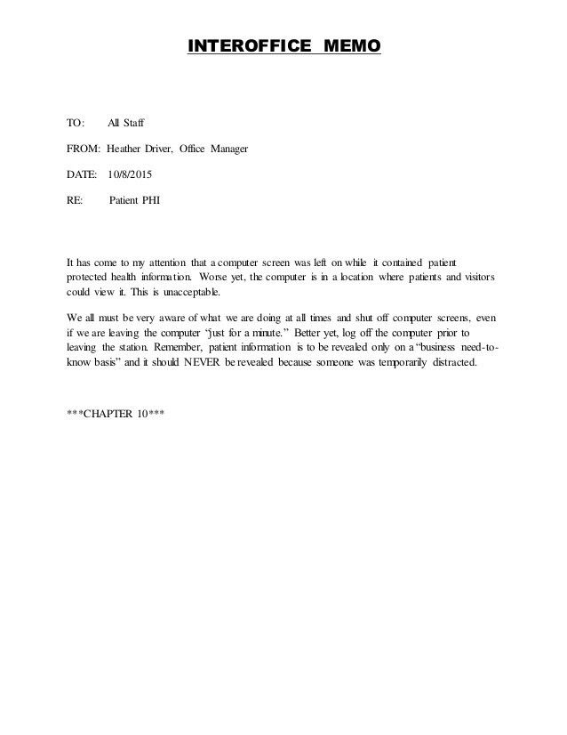 inter office memo template
