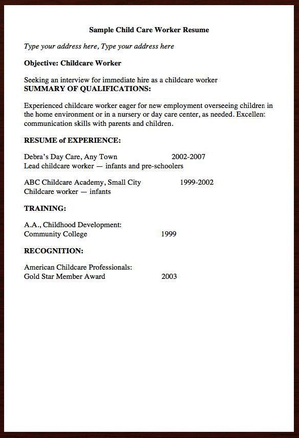 daycare. sample cover letters 10. child care resume sample unusual ...