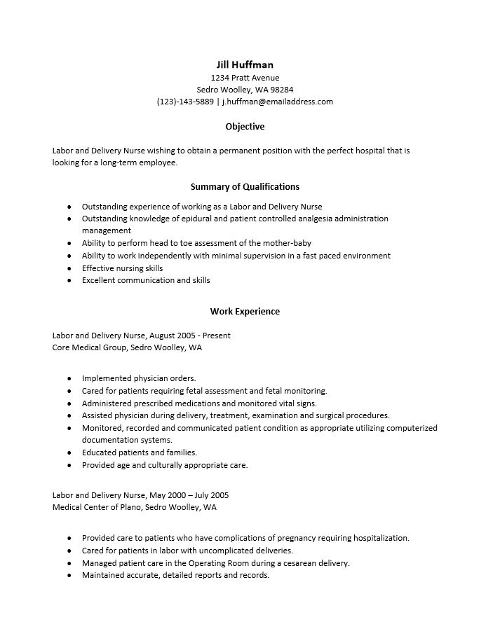 Medical surgical nurse resume job description