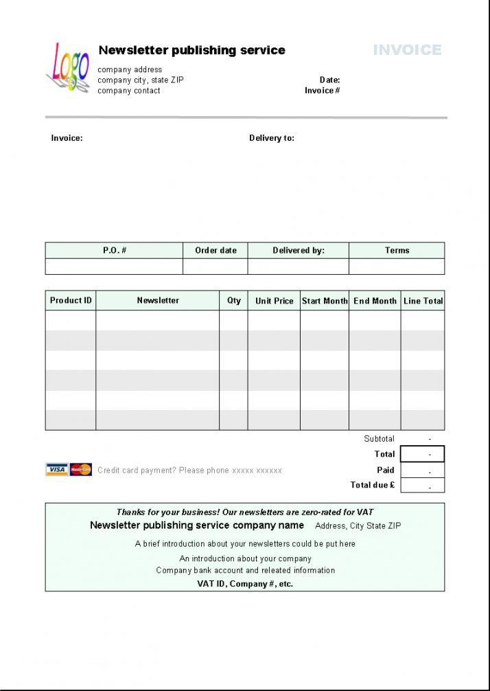 Libreoffice Invoice Template   invoice example