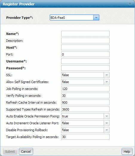Entering PaaS resource provider registration information - BMC ...