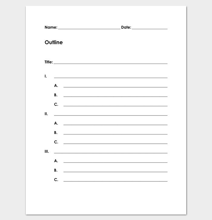Blank Outline Template - 11+ Examples and Formats (for Word & PDF)