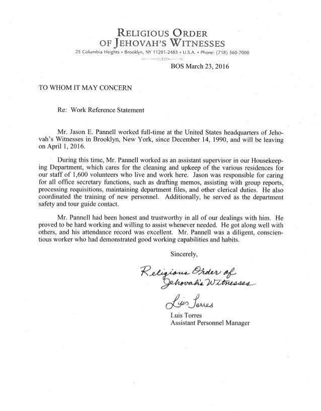Reference Letter - Pannell