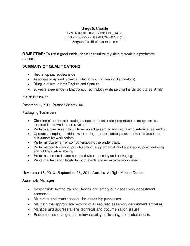 Civilian Resume General