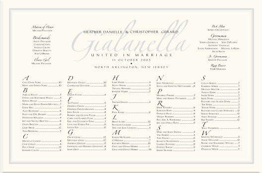 Imperial & Zapfino Monogram Wedding Seating Charts-Wedding ...