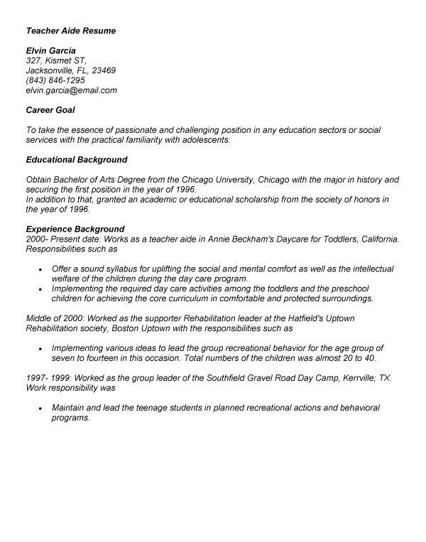 instructional aide cover letter instructional aide cover letter
