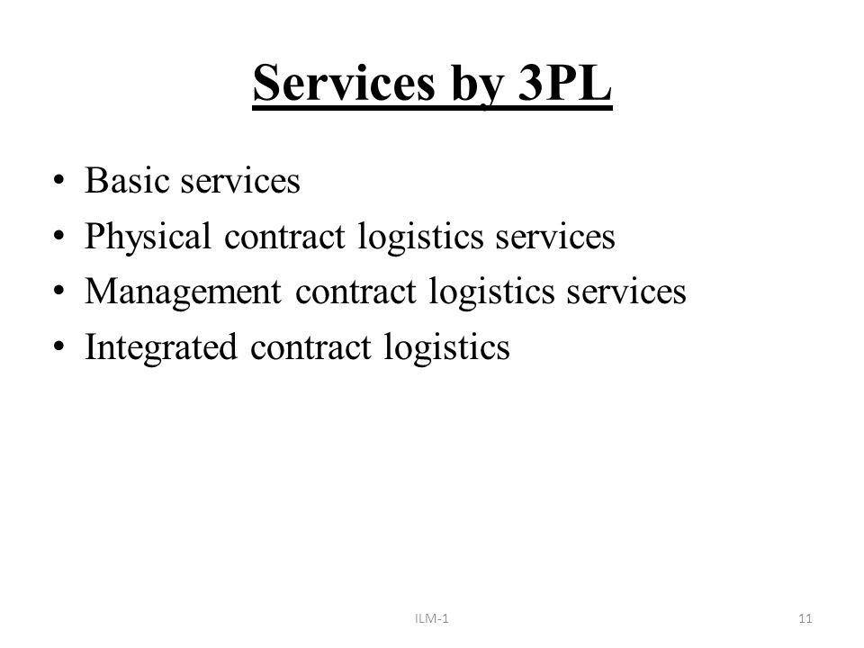 Third party Logistics (3PL) - ppt download