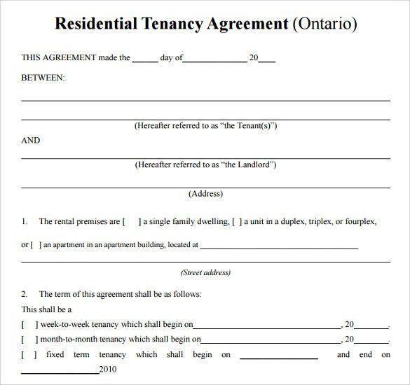 Tenancy Contract Template. Tenancy Contract Template Rental ...