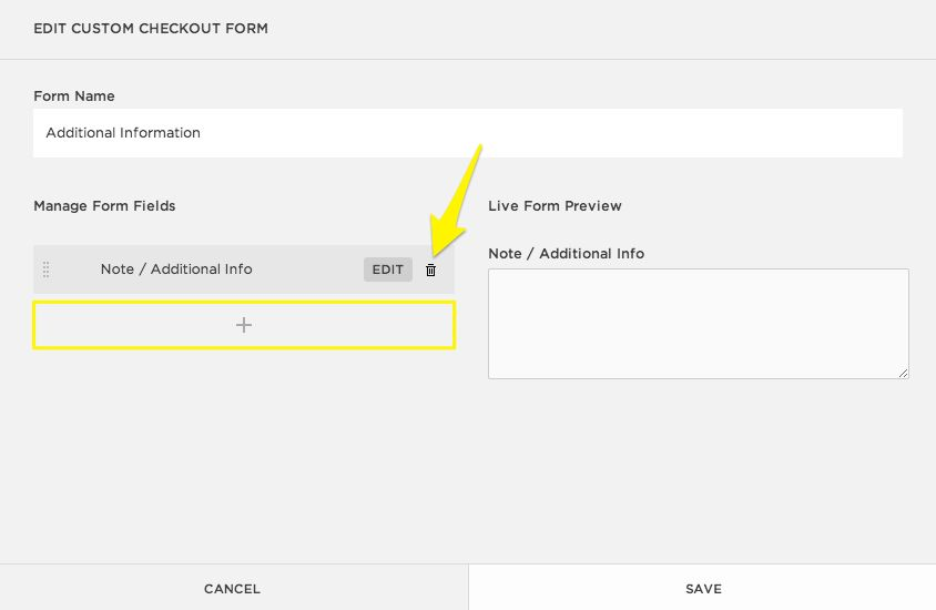 Squarespace Help - Creating a custom checkout form