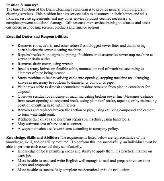 cleaning services job description resume sample. cleaning resume ...