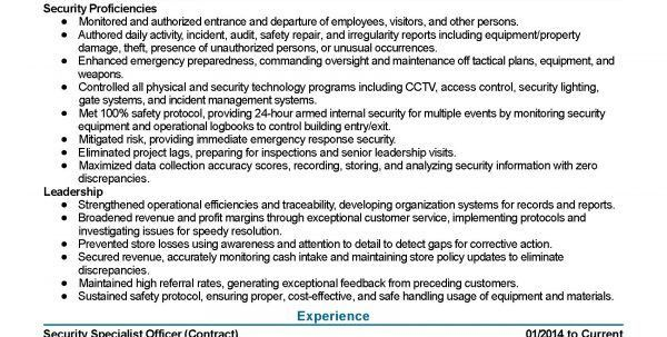 Loss Prevention Resume Objective Loss Prevention Resume Resume ...
