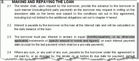 Free personal loan letter template contract between family ...