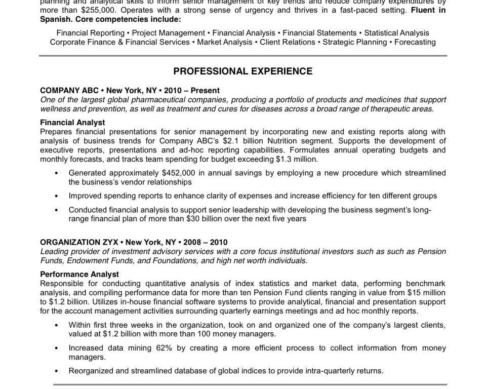 Example Of Perfect Resume. Perfect Resume Format Example Perfect ...