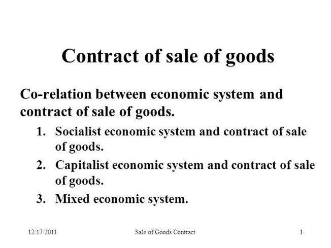 Contract of Sale of Goods |authorSTREAM