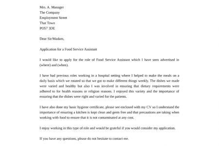 Cover Letter Job Application For Food In - [imerbilgisayar.com]