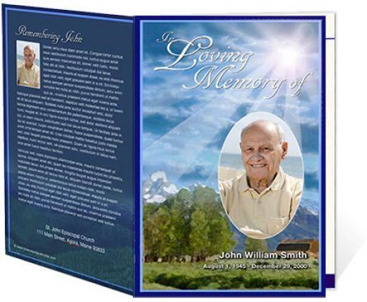 Free Sample Funeral Programs | funeral programs minutes usingdec ...