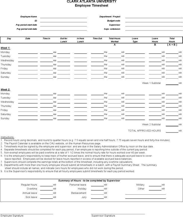 Sample Excel Timesheet. Hr Timesheet Templates | Download Free ...