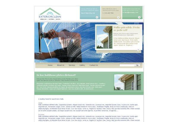 Window Cleaning Pressure Washing Web Template Pack from Serif.com