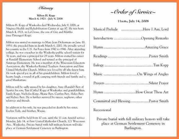 7+ funeral programs examples   CV Template